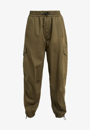 GLIDE - Spodnie materiałowe - olive