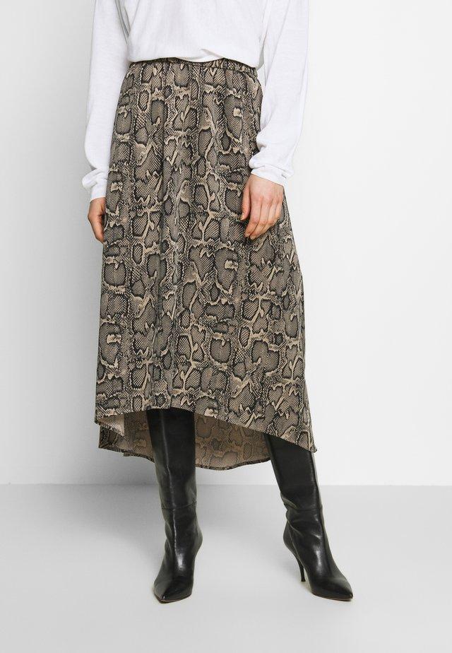 RAHEL - A-line skirt - snake