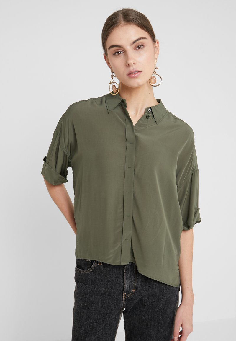 DRYKORN - THERRY - Button-down blouse - olive