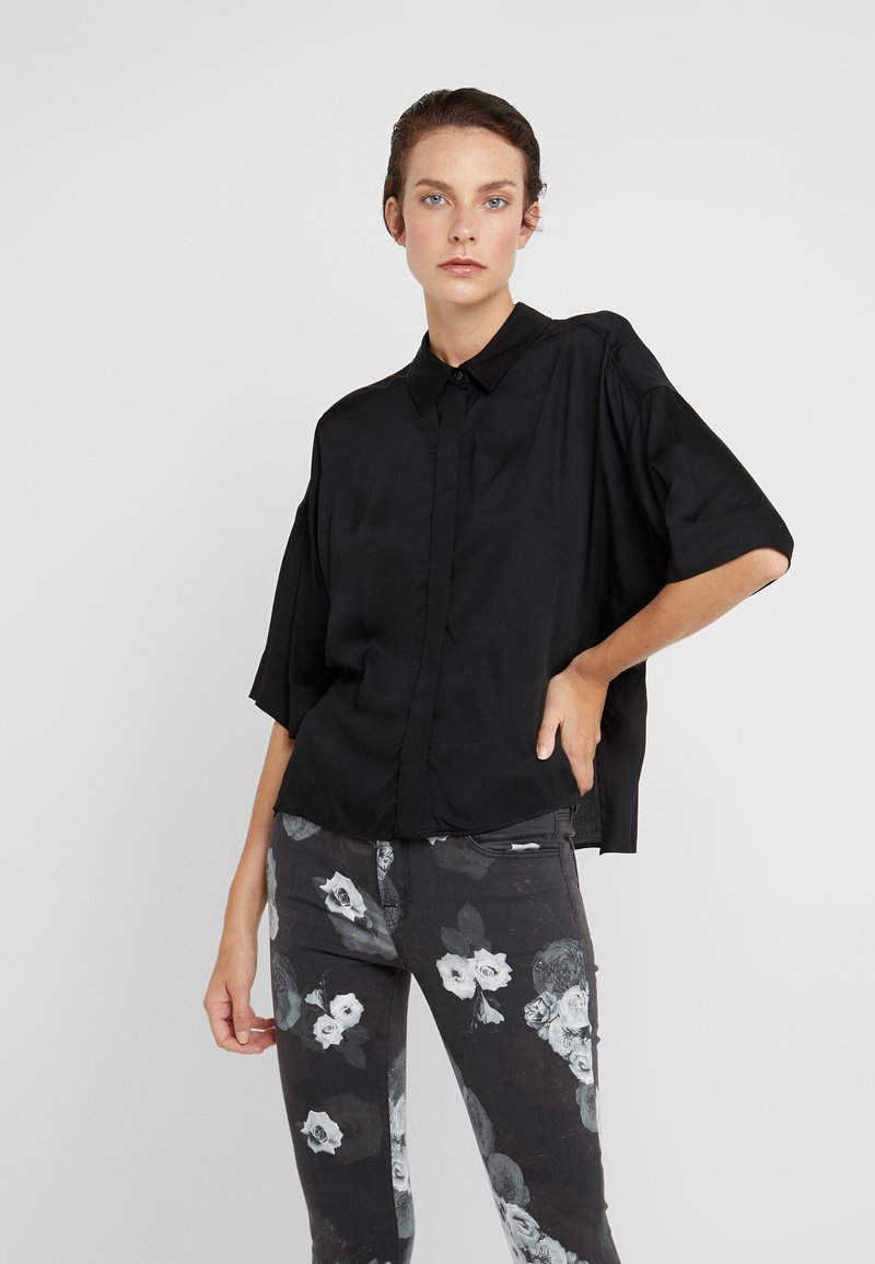 DRYKORN - THERRY - Button-down blouse - black