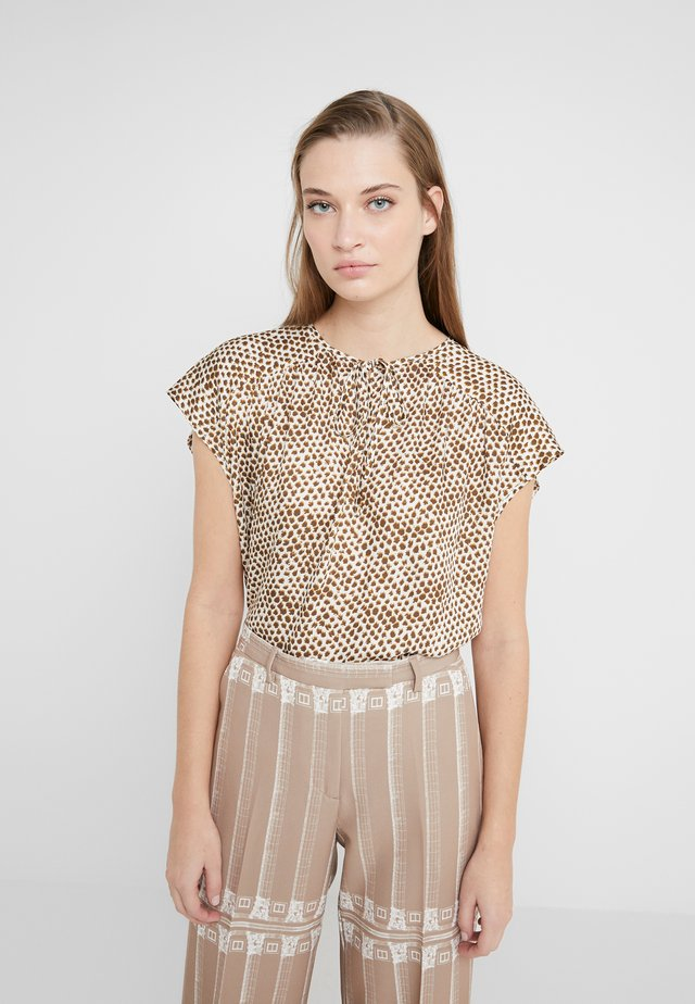 PAZIA - Blouse - offwhite/olive