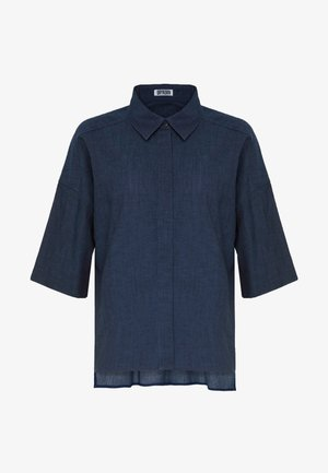 THERRY - Button-down blouse - dark blue denim
