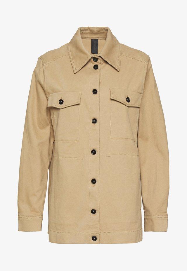 NATHEN - Button-down blouse - camel