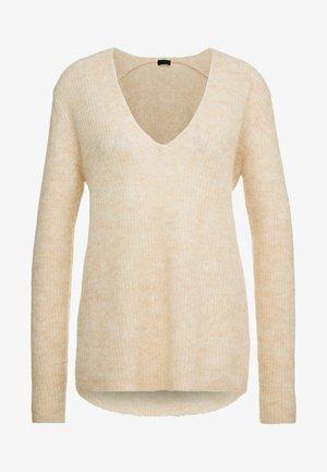 SELEN - Strikkegenser - mottled beige