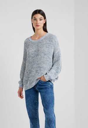 NOLIMA - Sweter - blue/offwhite