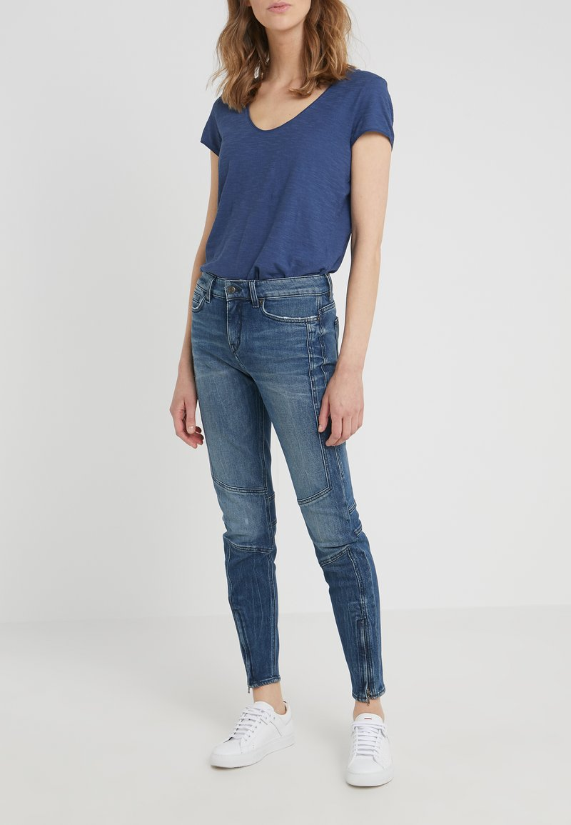 DRYKORN - STRICT - Jeansy Slim Fit - blue
