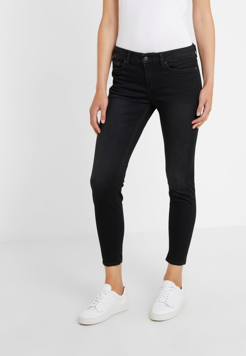 DRYKORN - NEED - Jeansy Skinny Fit - black wahed