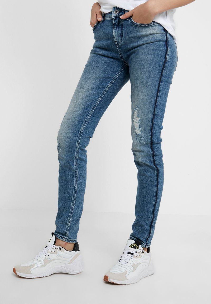 DRYKORN - PULL - Jeans Skinny Fit - destroyed