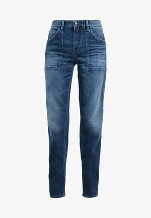 CUSHY - Džíny Relaxed Fit - mid blue wash