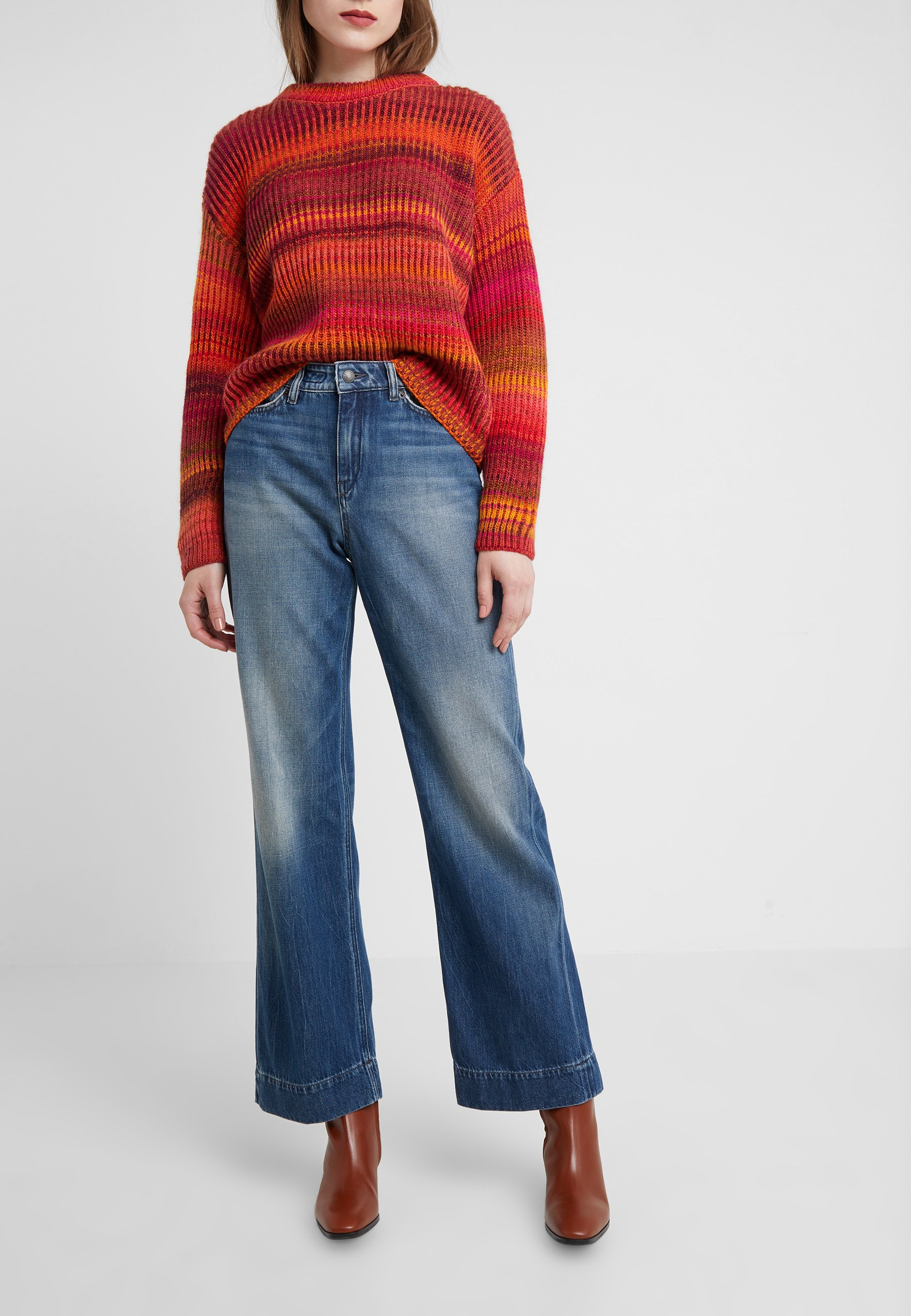 Drykorn SweepJean Flare Blue Wash Mid sdCBhxtQr