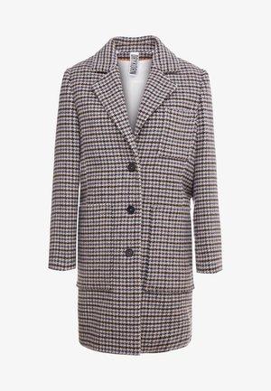 CASLAN - Płaszcz wełniany /Płaszcz klasyczny - black/offwhite