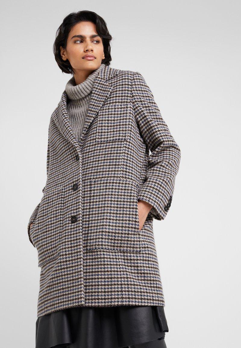 DRYKORN - CASLAN - Płaszcz wełniany /Płaszcz klasyczny - black/offwhite