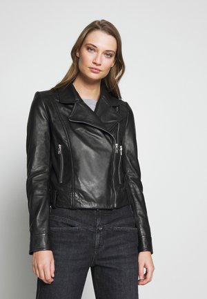 PAISLY - Leather jacket - black