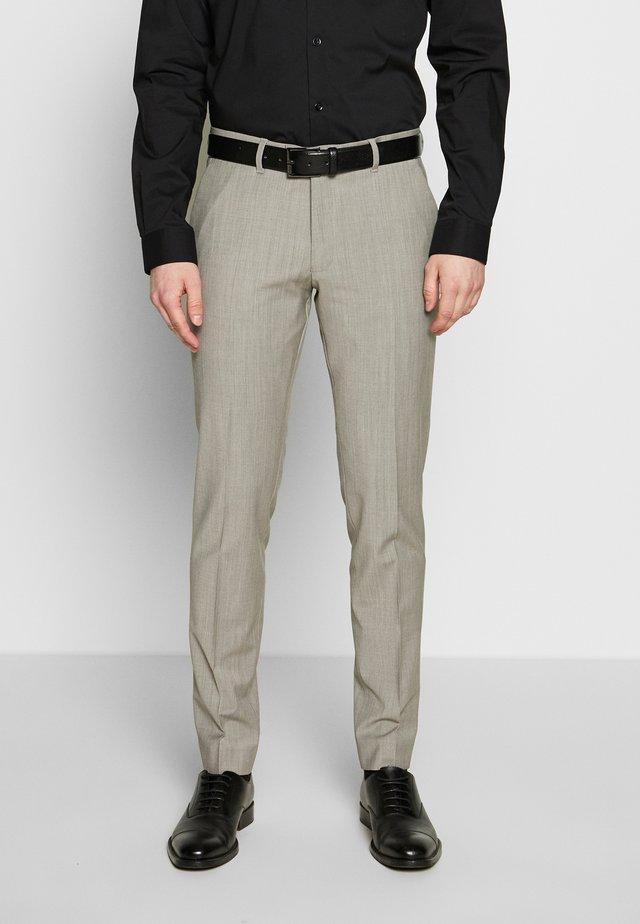 PIET - Suit trousers - beige grau