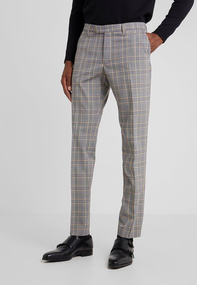 PIET - Oblekové kalhoty - grey/yellow