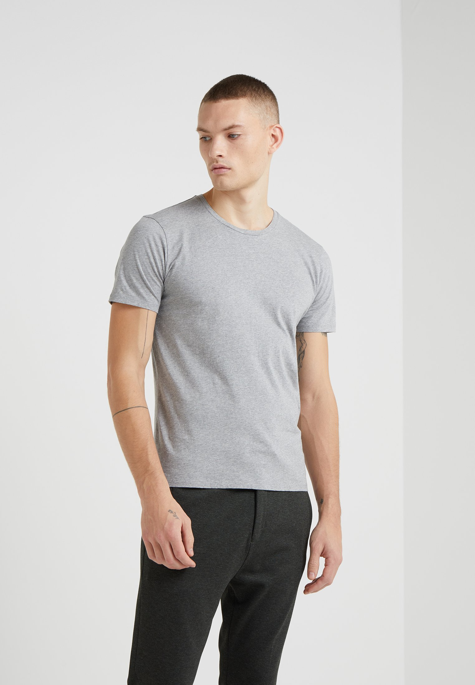 DRYKORN CARLO - T-shirt basique mottled light grey