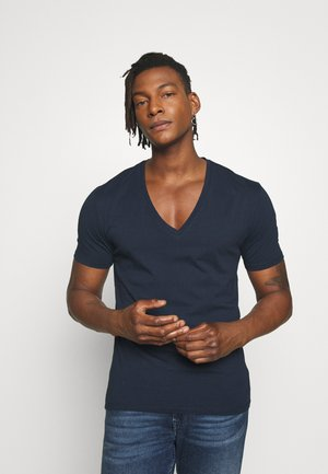 QUENTIN - Basic T-shirt - navy