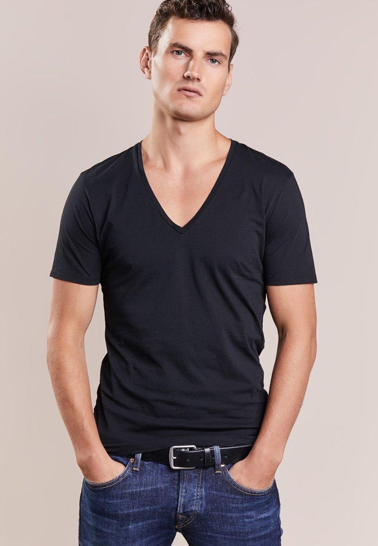 DRYKORN - QUENTIN - T-shirt - bas - black