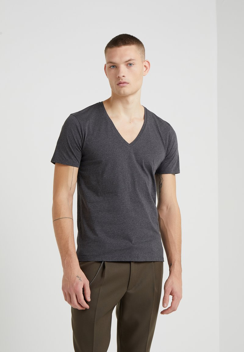DRYKORN - QUENTIN - T-shirt - bas - anthracite