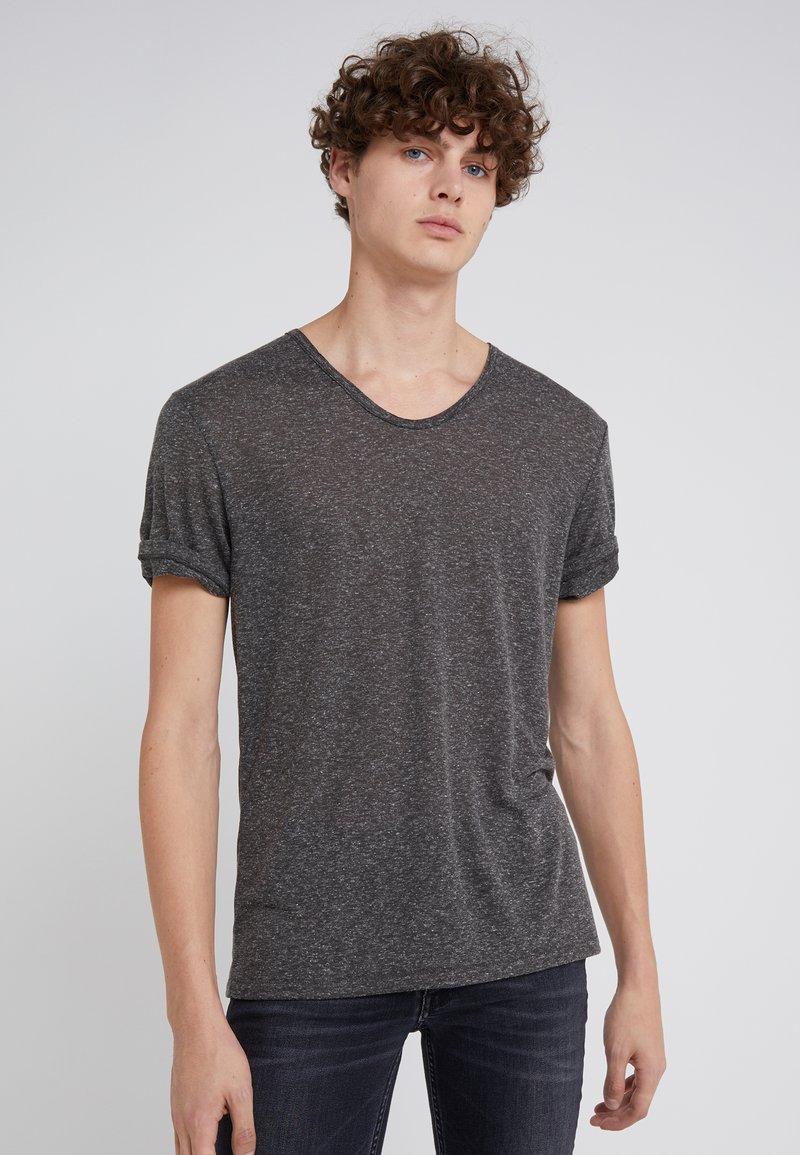 DRYKORN - RAVY - T-shirt - bas - mottled dark grey