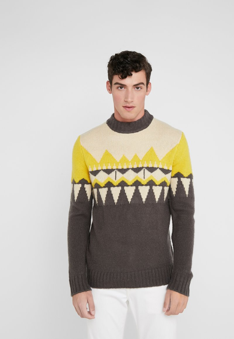 DRYKORN - ZAYN - Jumper - beige/grey/yellow