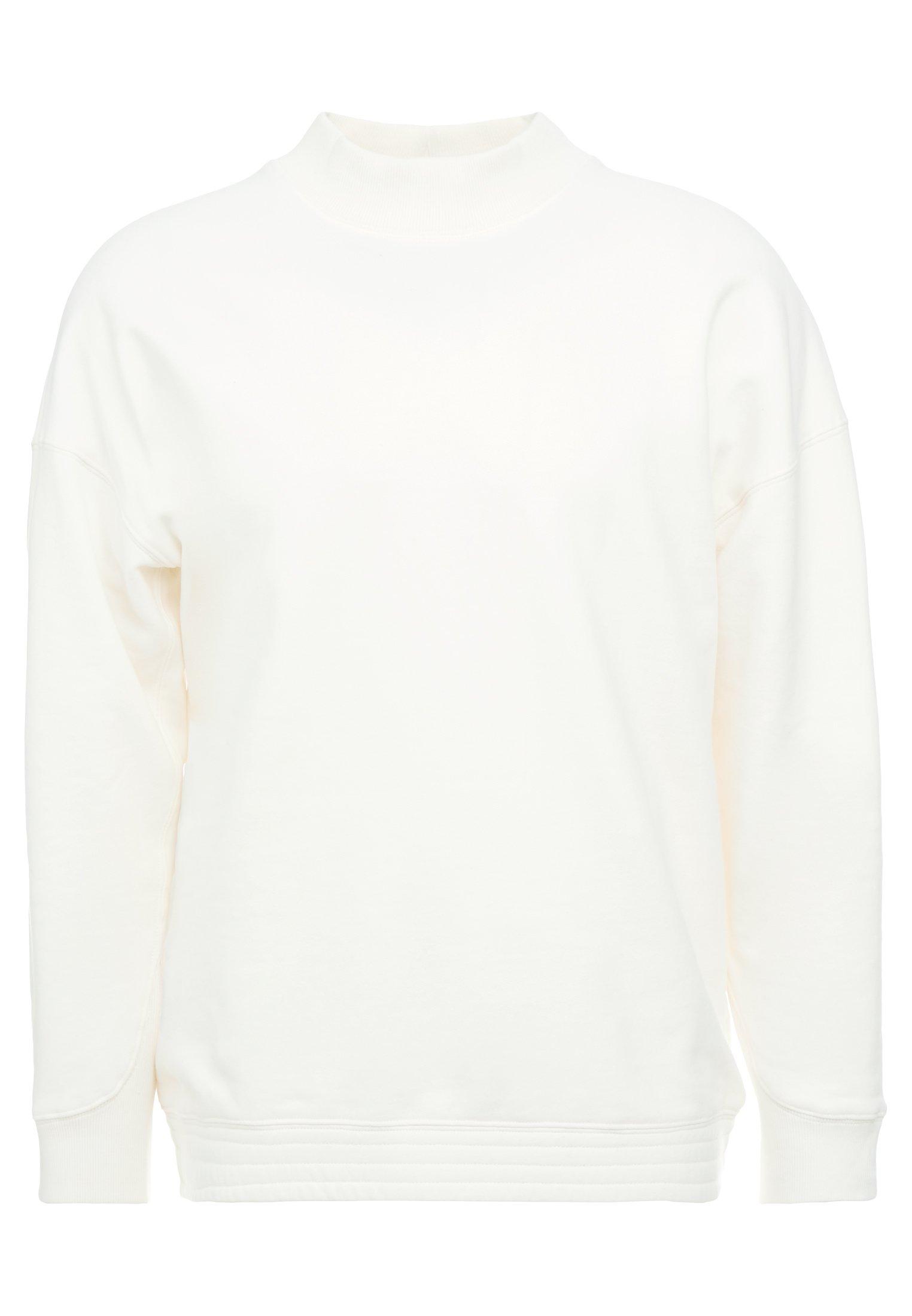 DRYKORN Sweatshirt mit Stehkragen Modell 'Benjen' in Weiß