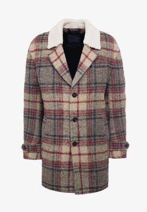 SUNT - Zimní kabát - beige/red