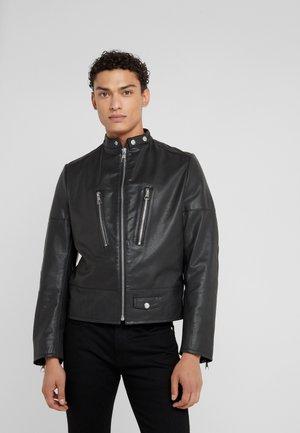 TOLIDU - Leather jacket - black
