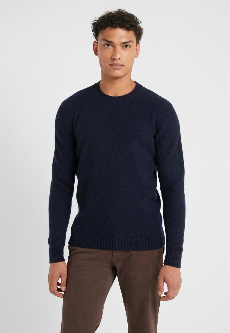 Drumohr - GIROCOLLO GARZATO - Sweter - dark blue