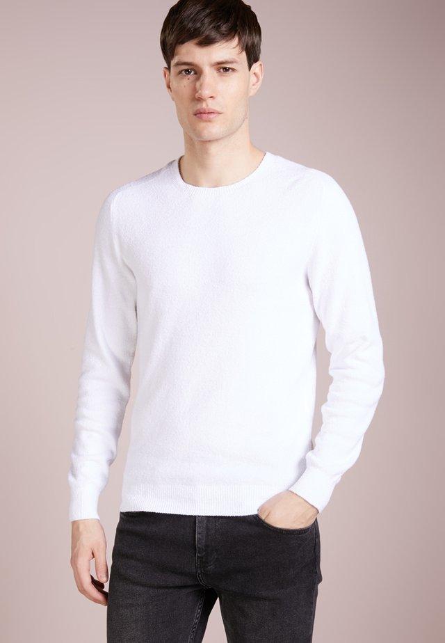 FELPA SPUGNA - Maglione - bianco