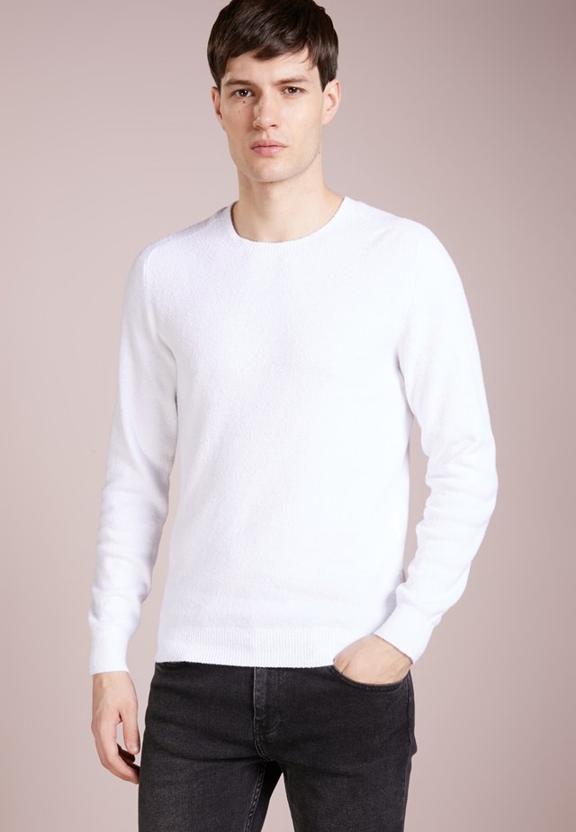FELPA SPUGNA - Strickpullover - bianco