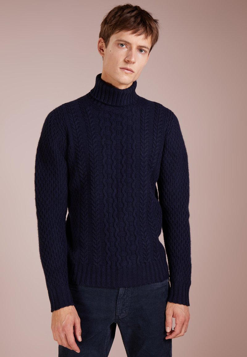 Drumohr - TURTLE NECK - Pullover - dark blue