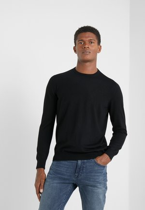 CREW NECK - Strikkegenser - black