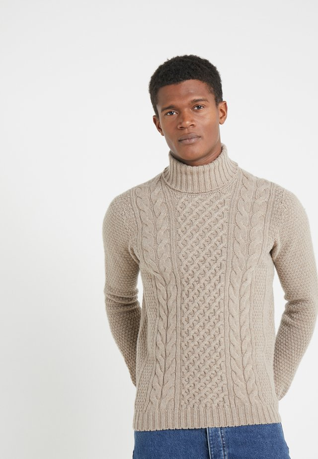 TURTLE NECK - Sweter - beige