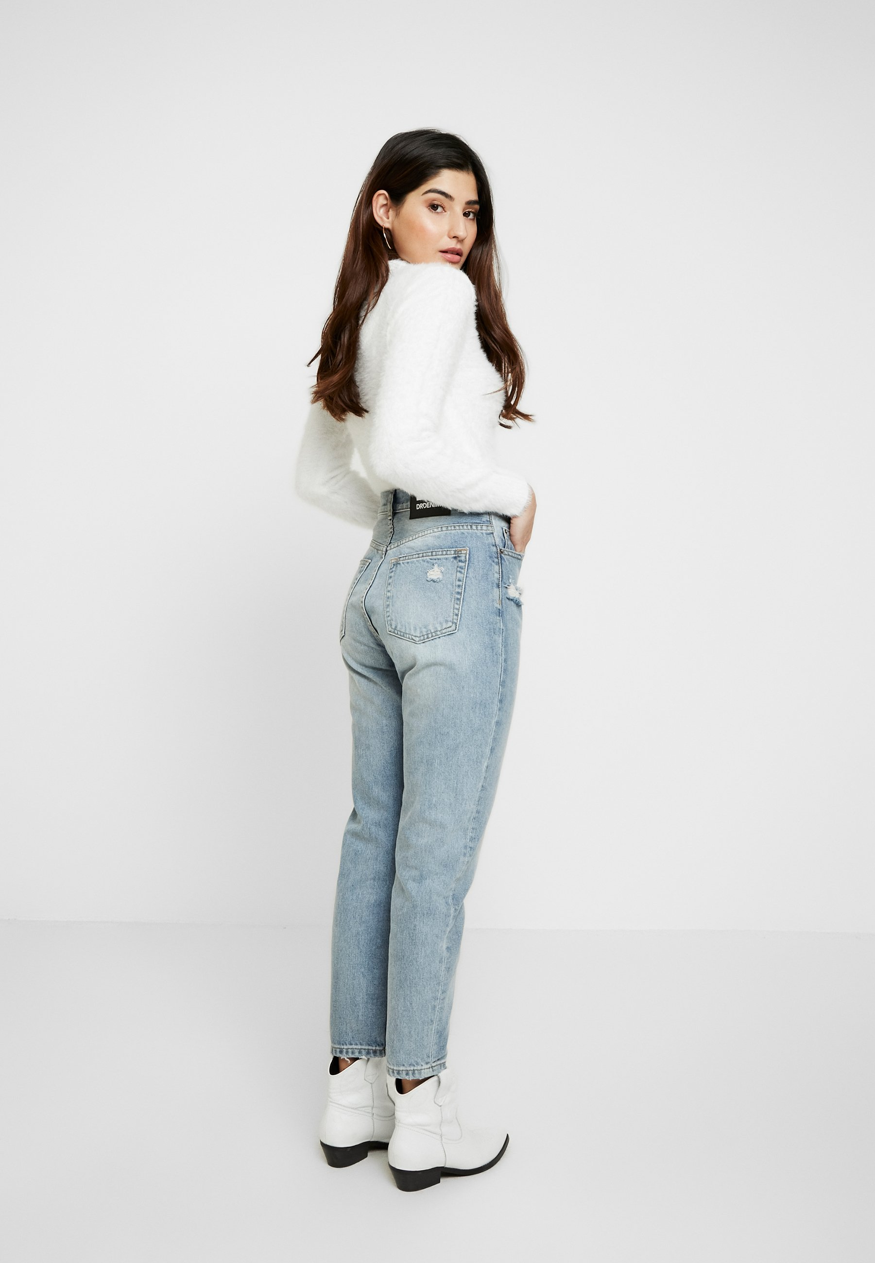 Dr.Denim Petite NORA - Jeansy Relaxed Fit - stone blue denim