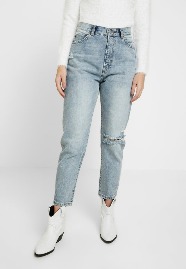 NORA - Relaxed fit jeans - stone blue denim