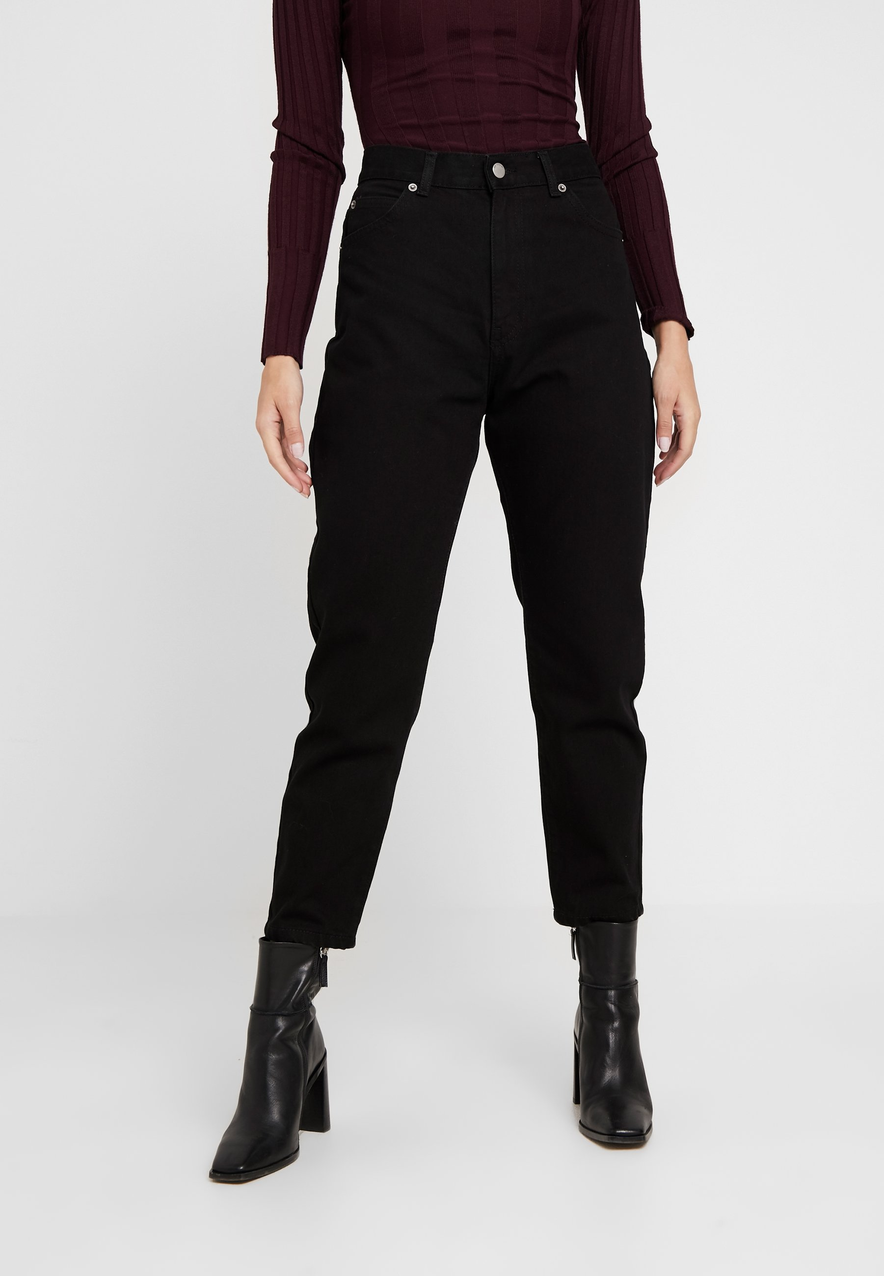 Dr.Denim Petite NORA - Jeansy Relaxed Fit - black
