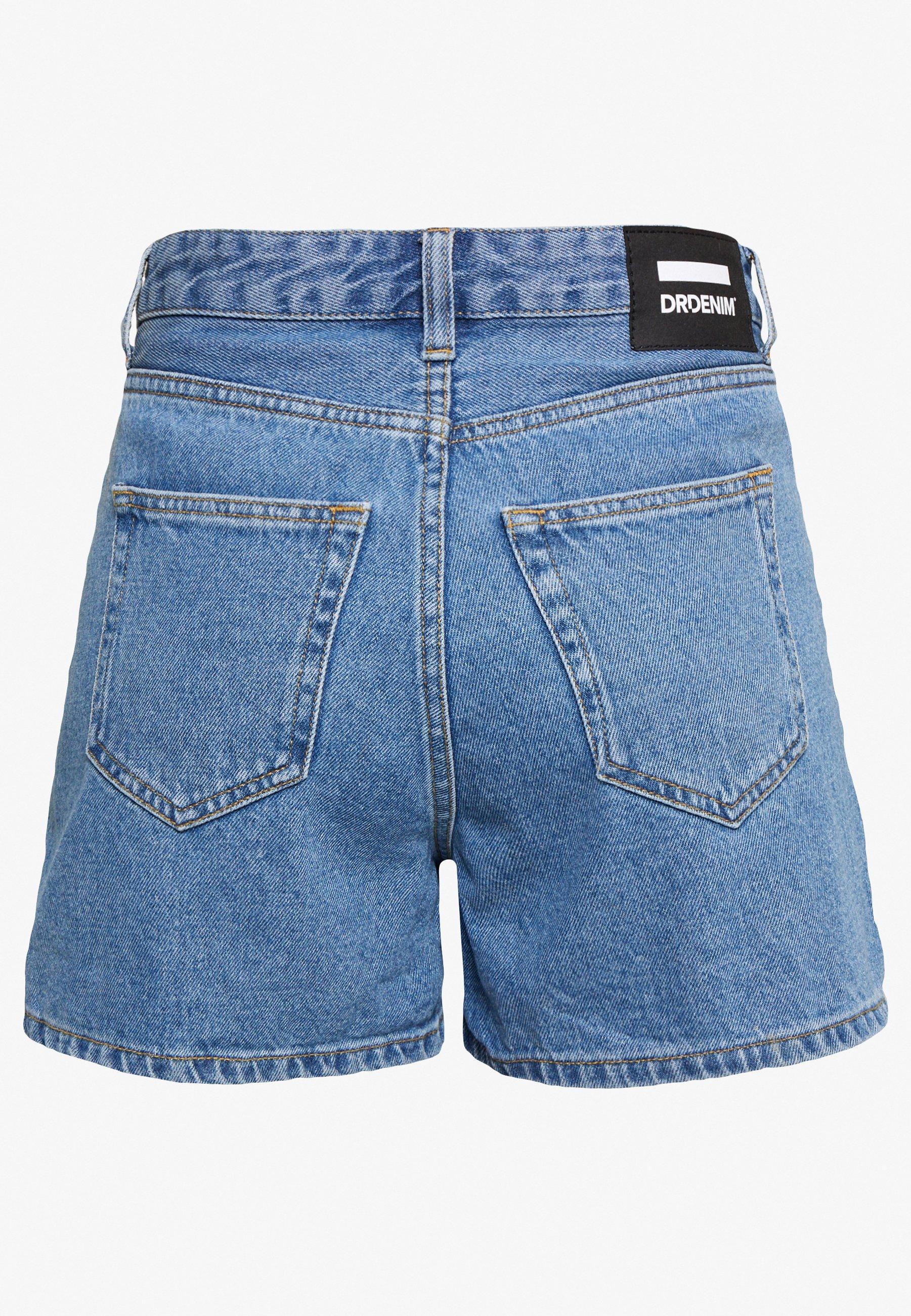 Dr.denim Petite Jen - Jeans Short / Cowboy Shorts Retro Sky Blue
