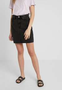 Dr.Denim Tall - MALLORY - Denim skirt - retro black - 0
