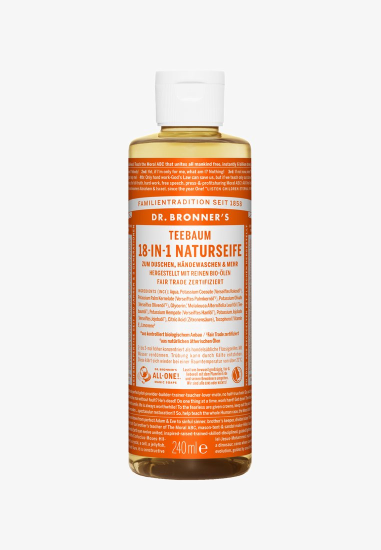 Dr. Bronner´s - 18-IN-1 NATURAL SOAP 240ML - Duschtvål - teebaum