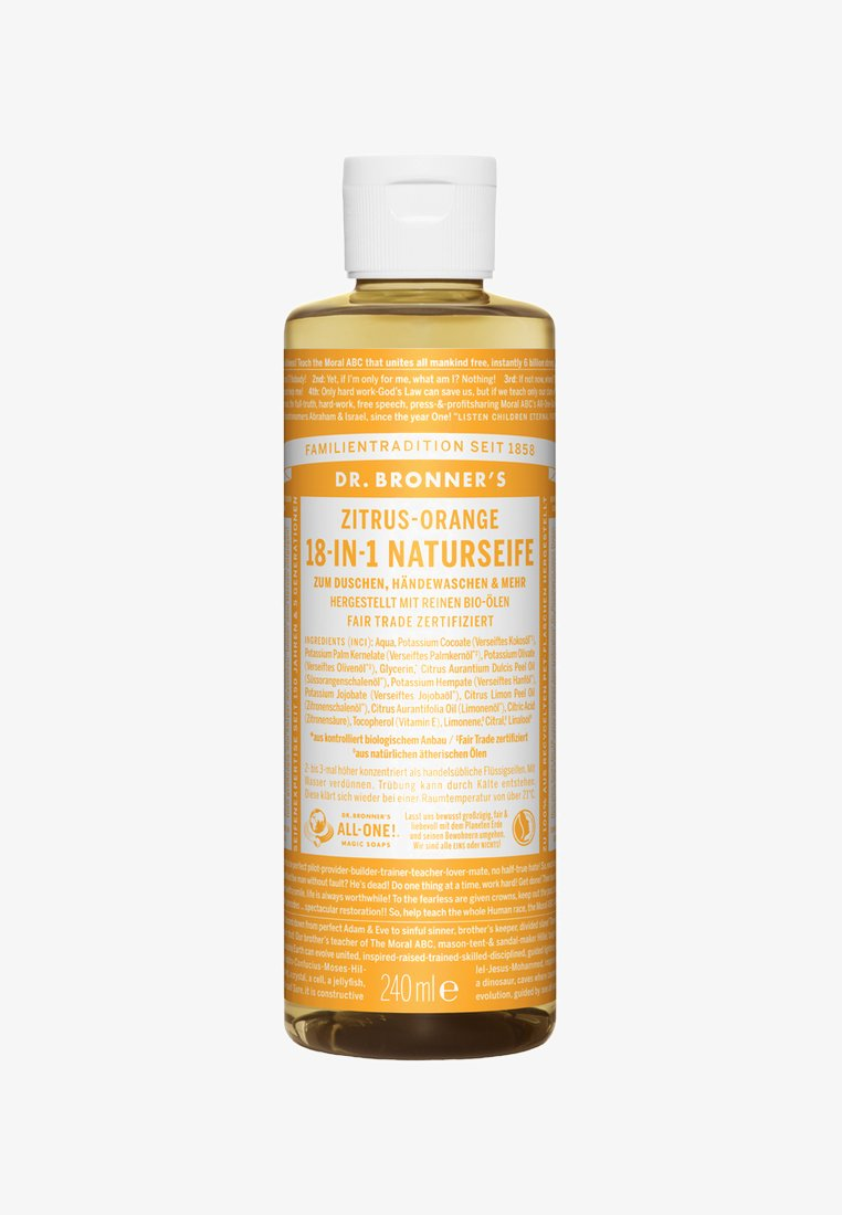 Dr. Bronner´s - 18-IN-1 NATURAL SOAP 240ML - Shower gel - zitrus-orange