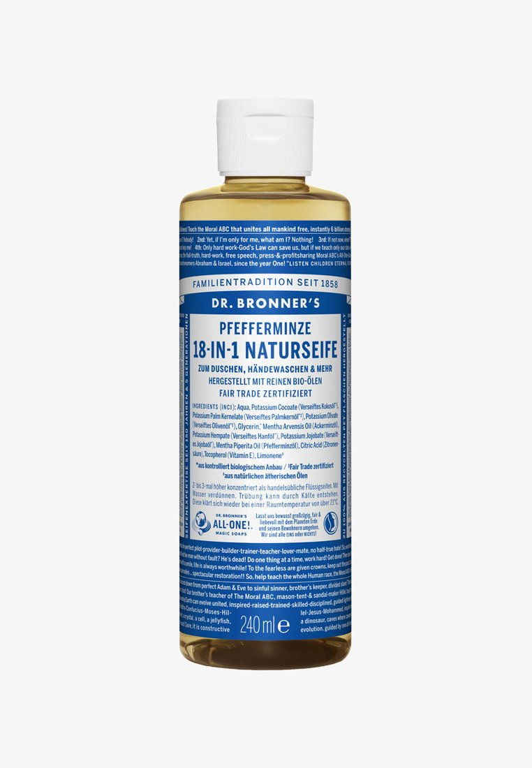Dr. Bronner´s - 18-IN-1 NATURAL SOAP 240ML - Duschtvål - pfefferminze