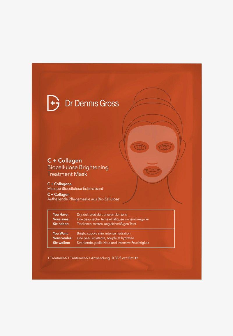 Dr Dennis Gross - C+ COLLAGEN BIOCELLULOSE BRIGHTENING TREATMENT MASK - Masque visage - -