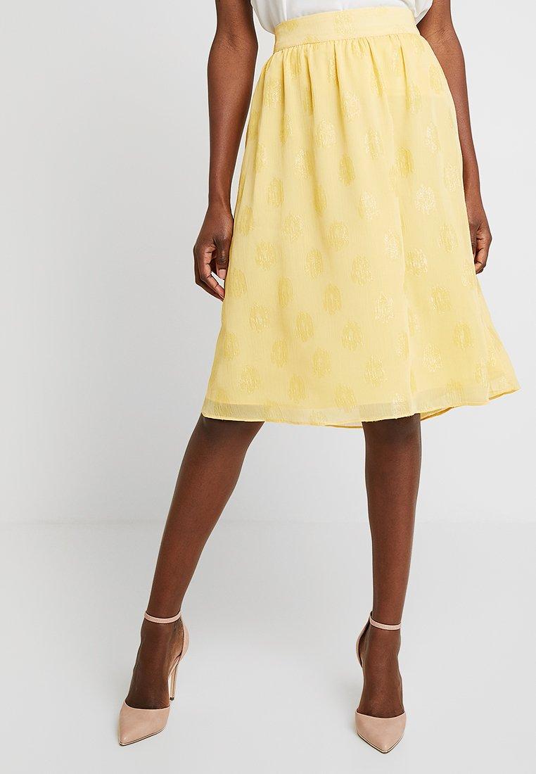 Dranella - SKIRT  - Áčková sukně - banana cream