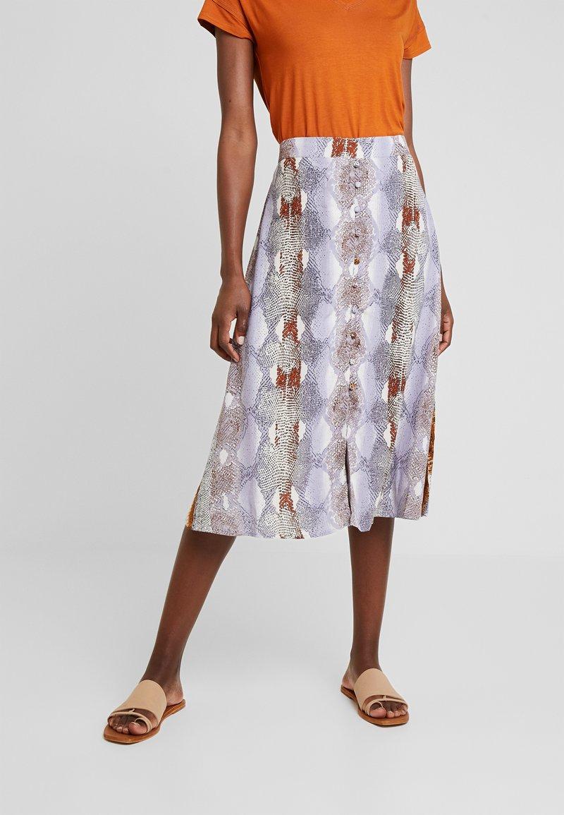 Dranella - SNAKE SKIRT - A-snit nederdel/ A-formede nederdele - dapple gray mix