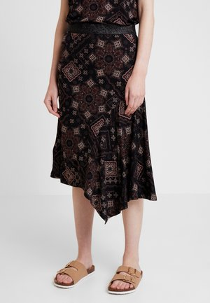 DRENZA SKIRT - A-linjekjol - black mix