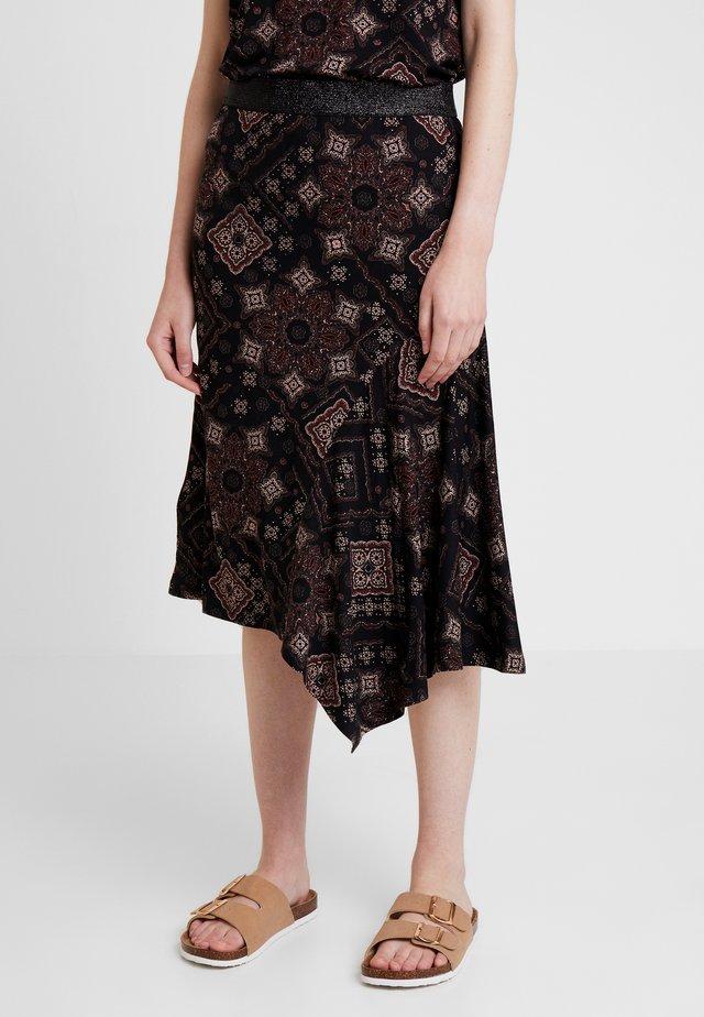 DRENZA SKIRT - A-line skirt - black mix