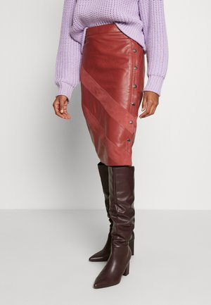DRIBEN  SKIRT - Pencil skirt - marsala