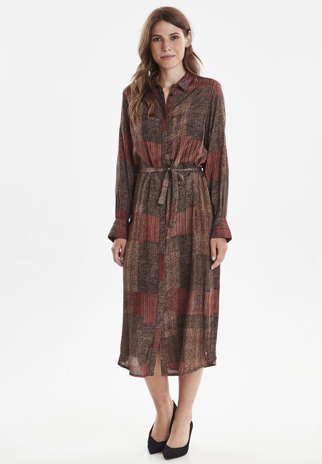 DRGALINA - Vestido camisero - brown