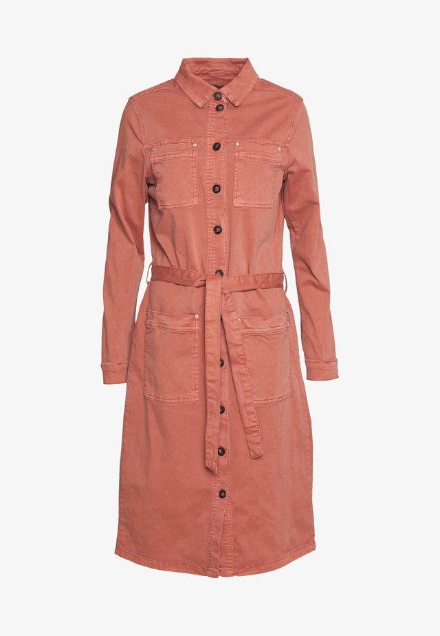 DRIRENE - Shirt dress - marsala